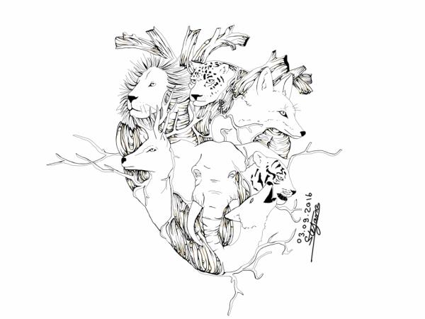 """Les line de """"l'animalité dans le coeur"""""""