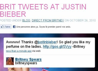 Britney Spears vient de tweeter un message à Justin Bieber !