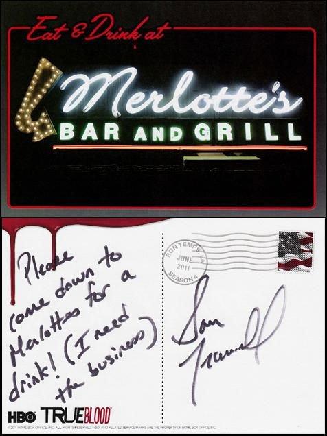 Une petite carte de Marshall Allman / Tommy et de Sam Trammell de Bon Temps !