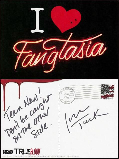 Jessica Tuck - Carte du Fangtasia et d'Alan Ball from Bon Temps