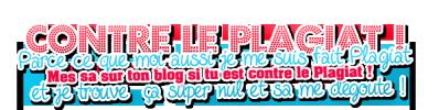 CONTRE LE PLAGIAT !!!!!!!!!!!!!!!
