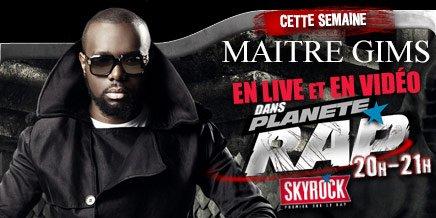 EVENEMENT : A partir de lundi, Fred Musa reçoit Maitre Gims dans Planète Rap sur Skyrock