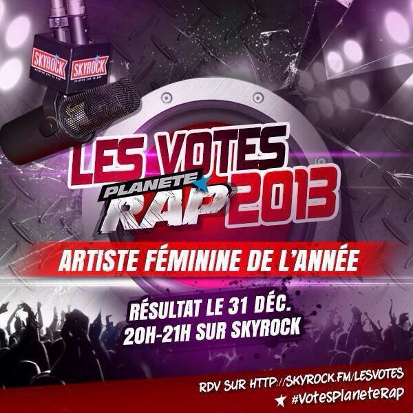 @Planete_Rap spécial les #VotesPlaneteRap sur @skyrockFm toute cette semaine.