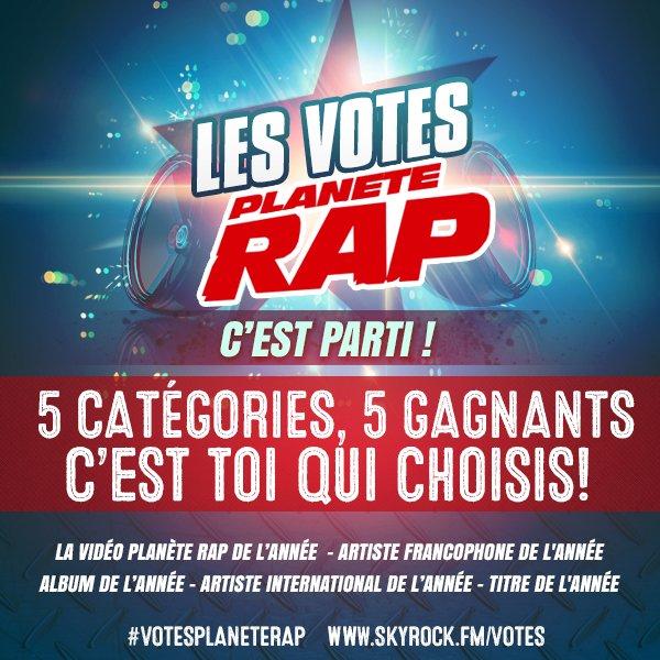 Les votes Planète Rap, c'est parti !