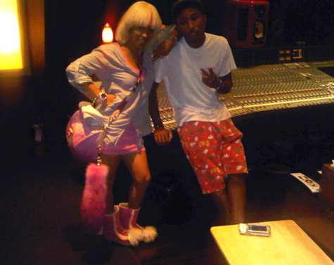 Pharrell en studio avec Keyshia Cole