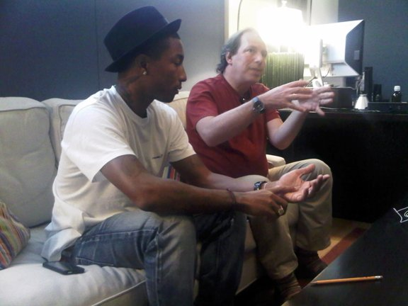 Pharrell en studio avec Hans Zimmer - Los Angeles, CA - 20 septembre 2010