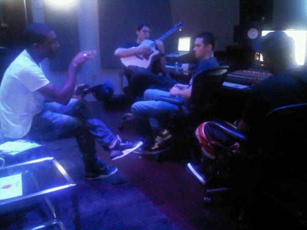 Pharrell en studio avec Cris Cab & Christian Rich - Fin février 2011