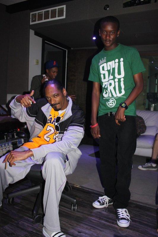 Pharrell en studio avec Snoop Dogg & Buddy - Miami, FL - Mars 2011
