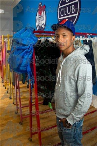 Pharrell - Au showroom BBC - New York - 21 avril 2011
