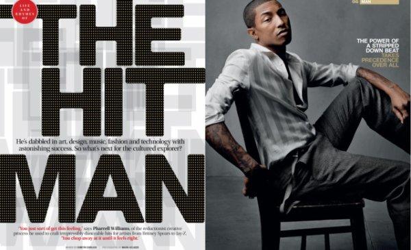 Pharrell - GQ Magazine Afrique du Sud - Numéro de Juin 2011