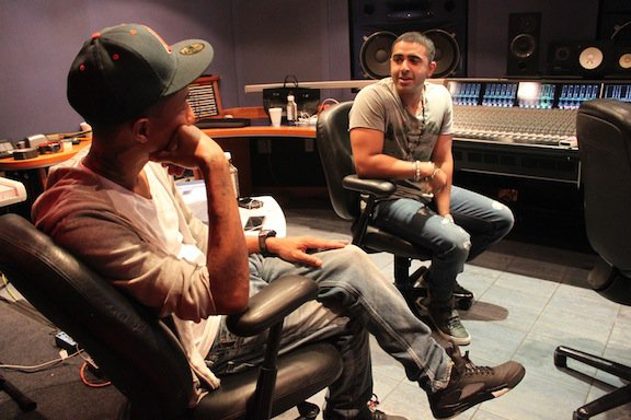 Pharrell en studio avec Jay Sean - 30 juin 2011