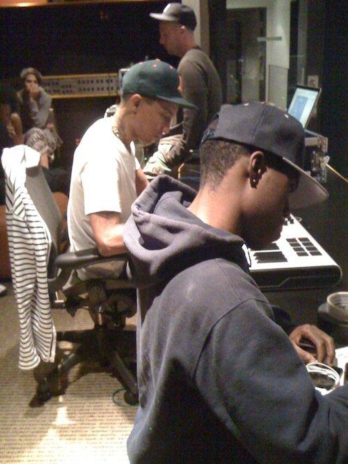 Pharrell en studio + Chad en studio - Juillet 2011