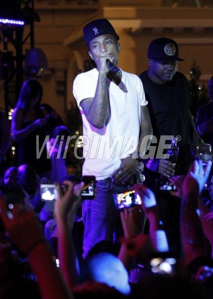 """Pharrell - Soirée de présentation """"Qream"""" Ouverture """"Chateau Gardens"""" Las Vegas, NV - 15 octobre 2011"""