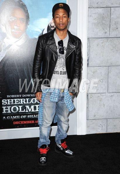 """Pharrell - Première de """"Sherlock Holmes 2"""" - Westwood,CA - 6 décembre 2011"""