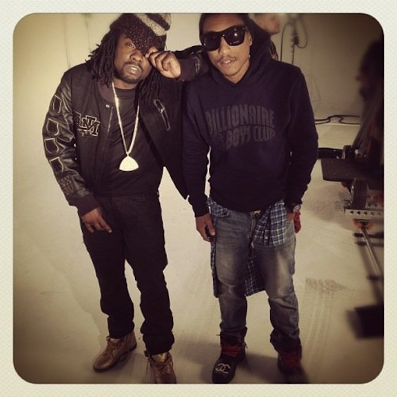 "Pharrell & Wale - Tournage du clip de ""High Definition"" de Rick Ross - Janvier 2012"