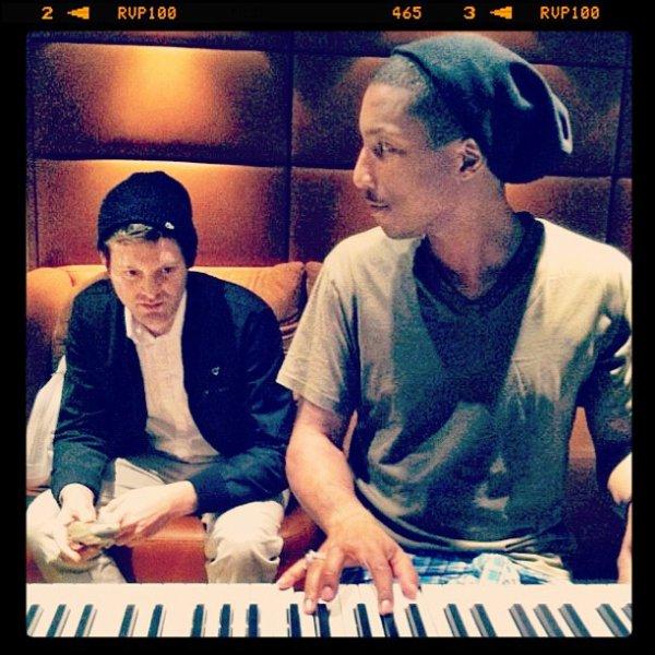 Pharrell - Studio avec Mayer Hawthorne - 26 Janvier 2012