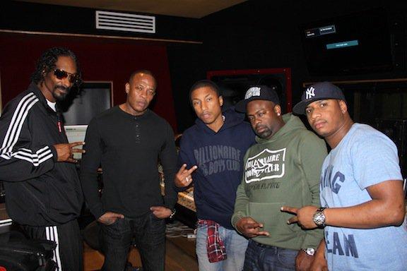 Pharrell en studio - Janvier 2012