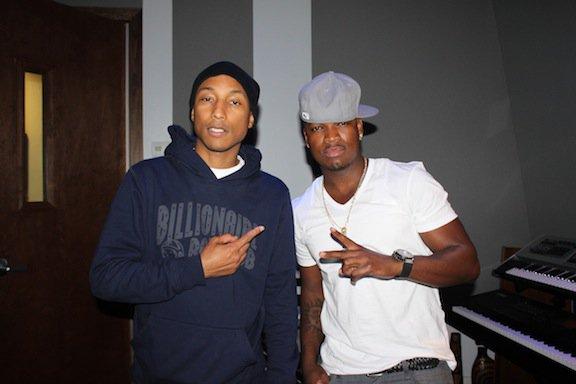 Pharrell en studio avec Ne Yo