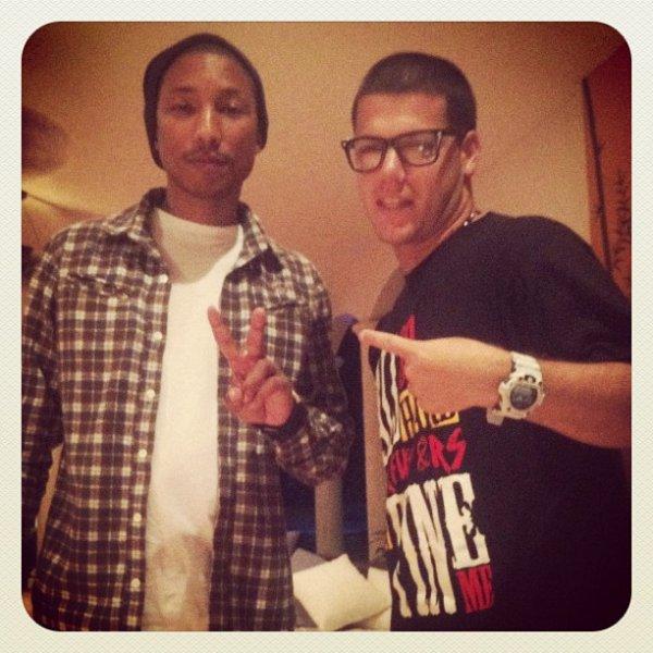 Pharrell en studio - Février 2012