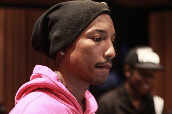 Pharrell en studio avec A$AP Rocky - 12 février 2012