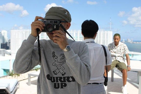 "Pharrell & Nigo - Photoshoot ""Human Made"" Miami, FL - 15 février 2012"