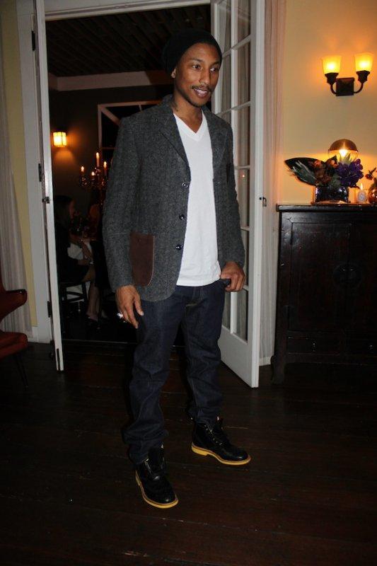 Pharrell - Dîner de célébration pour son rôle dans la cérémonie des Oscars - Los Angeles, CA -21 février 2012