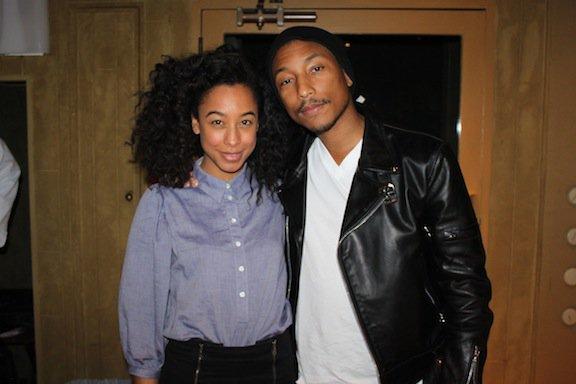Pharrell en studio avec Corinne Bailey Rae - Los Angeles, CA - Fin février 2012