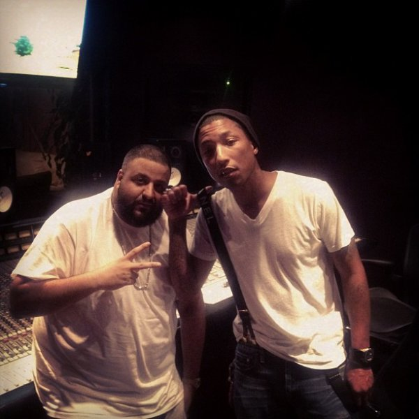 Pharrell en studio avec DJ Khaled - 17 mars 2012