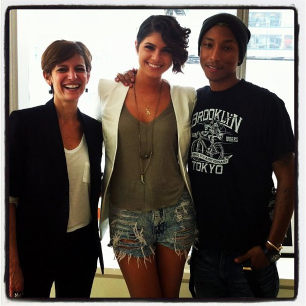 Pharrell & Leah LaBelle - Glamour Magazine - New York City - 20 avril 2012