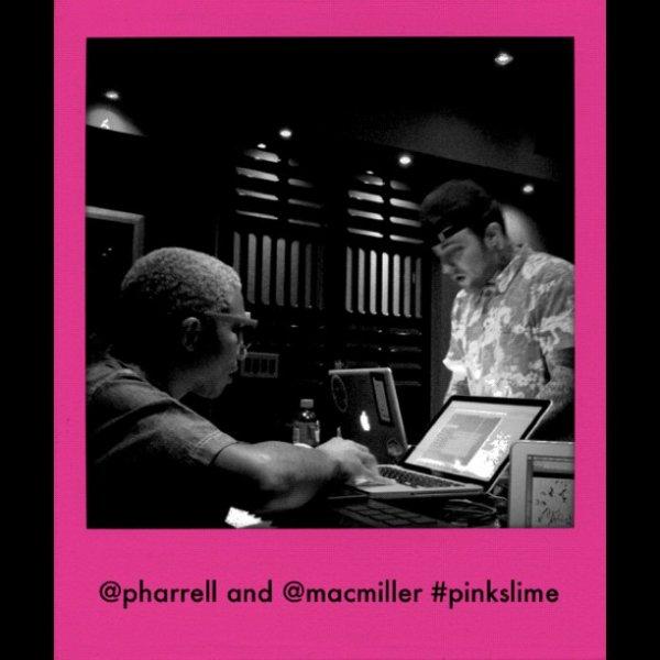 Pharrell en studio avec Miley Cyrus et Mac Miller - 15/16 juin 2012