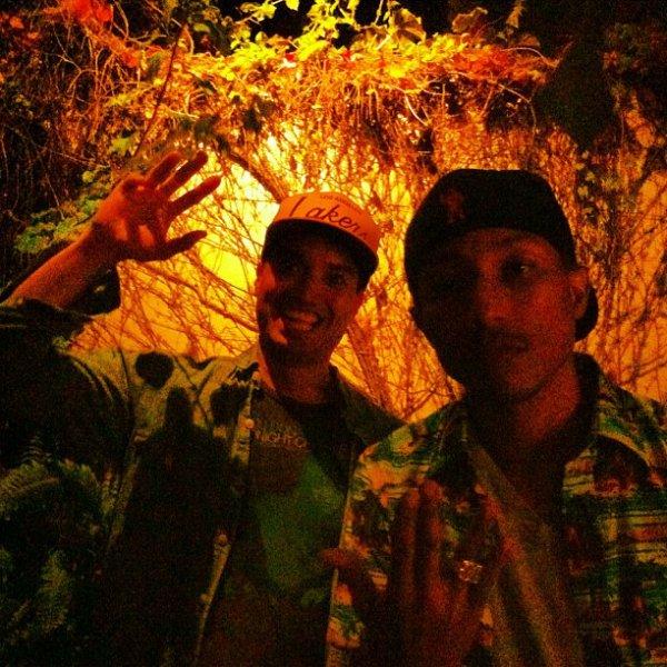 Pharrell & Chad en studio avec ... - 26 juin 2012