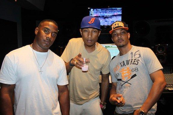 Pharrell en studio avec T.I. & KP - Nouvelle-Orléans - Juillet 2012