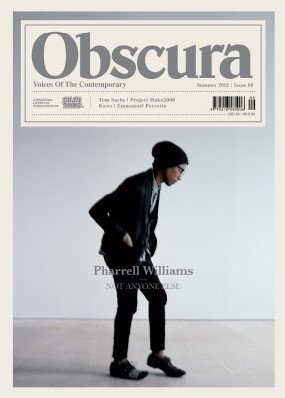 Pharrell - Obscura Magazine numéro été 2012 (Japon)