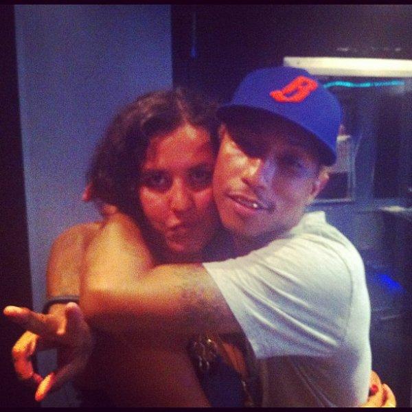 Pharrell en studio avec ...  - Début août 2012