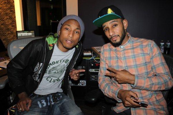 Pharrell en studio avec ... - Fin septembre 2012