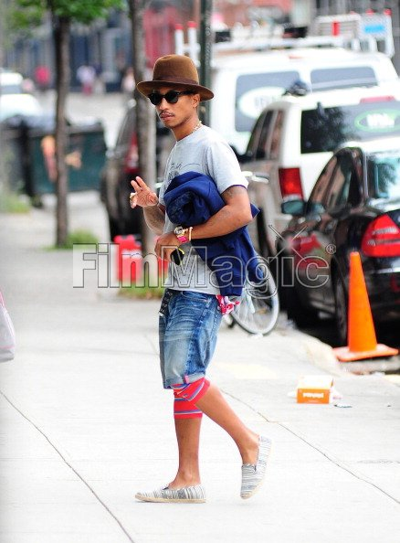 Pharrell dans les rues de Manhattan - 6 octobre 2012