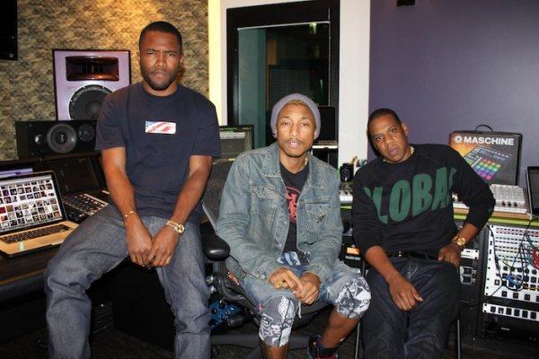 Pharrell en studio avec ... - 8 octobre 2012