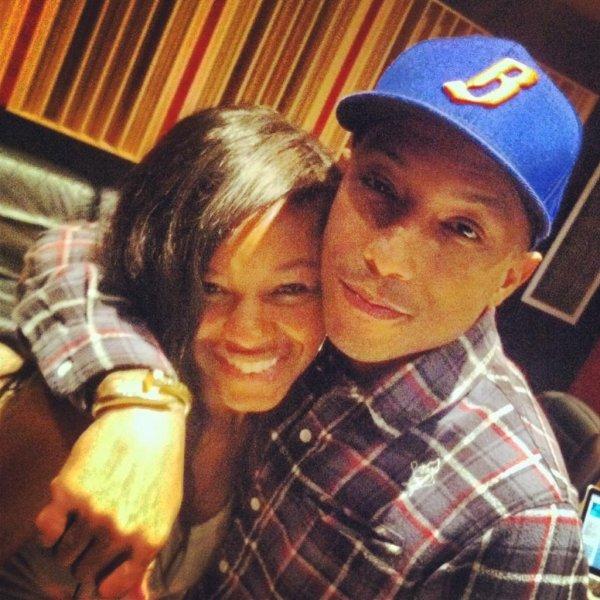 Pharrell & Netta Brielle en Studio - 15 décembre 2012