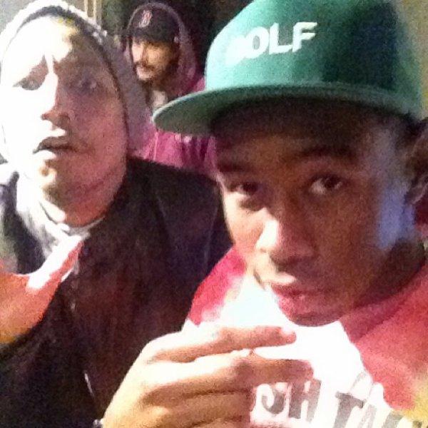 Pharrell en studio avec Tyler the Creator - 9 janvier 2013