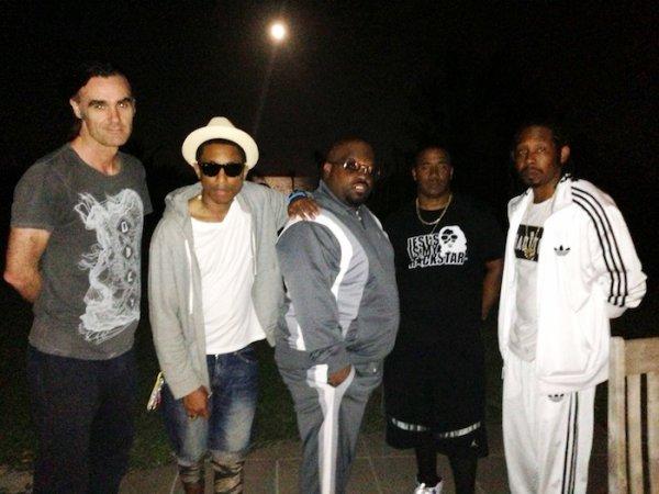 Pharrell aux Bahamas - fin janvier 2013