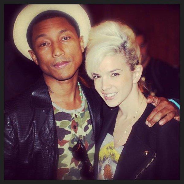 Pharrell en studio avec ... -  18 février 2013