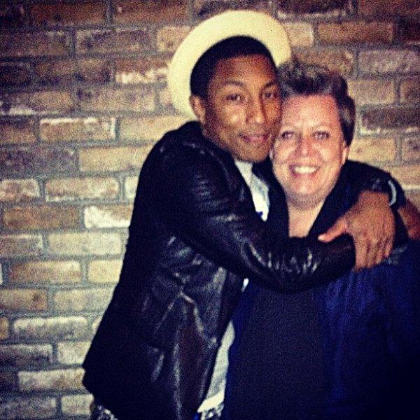 Pharrell avec ... - mars 2013