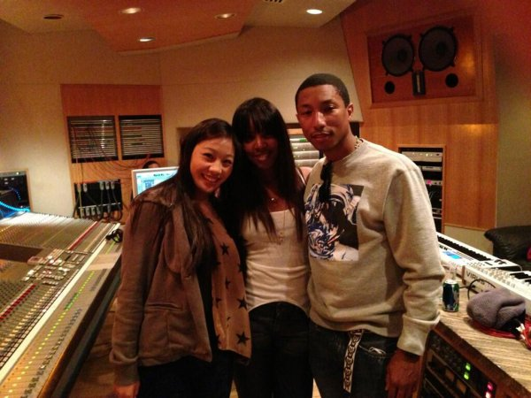 Pharrell en studio avec ... -  Los Angeles - 18 mars 2013