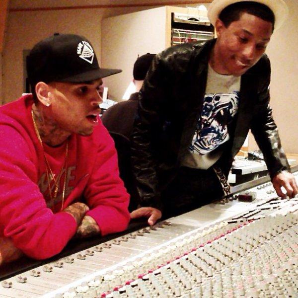Pharrell en studio avec ... -  mars 2013