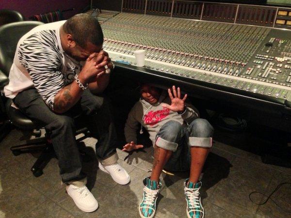 Pharrell en studio avec ... - Miami