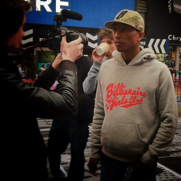 Pharrell - Times Square - 24 avril 2013