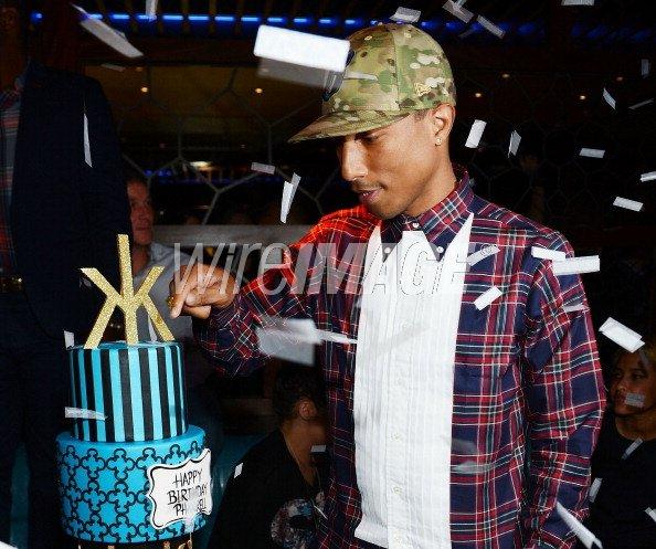 Pharrell - ouverture du club Hakkasan à Las Vegas + anniversaire de Pharrell - 27 avril 2013