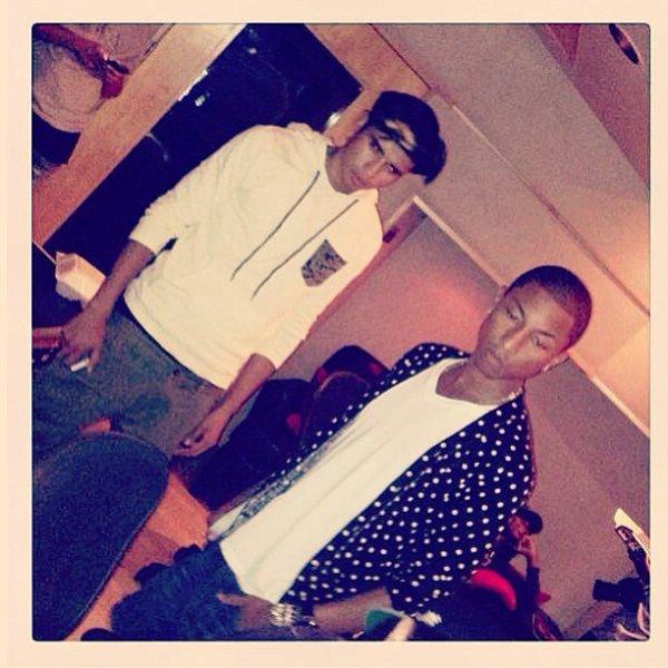 Pharrell en studio avec ... - 27 août 2013