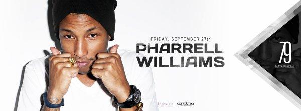 Pharrell à Paris le 27 septembre prochain