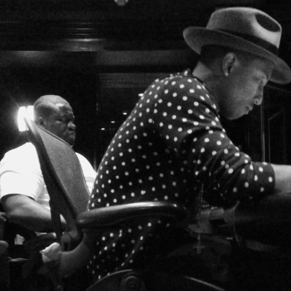 Pharrell en studio avec ... - Miami -  9 octobre 2013